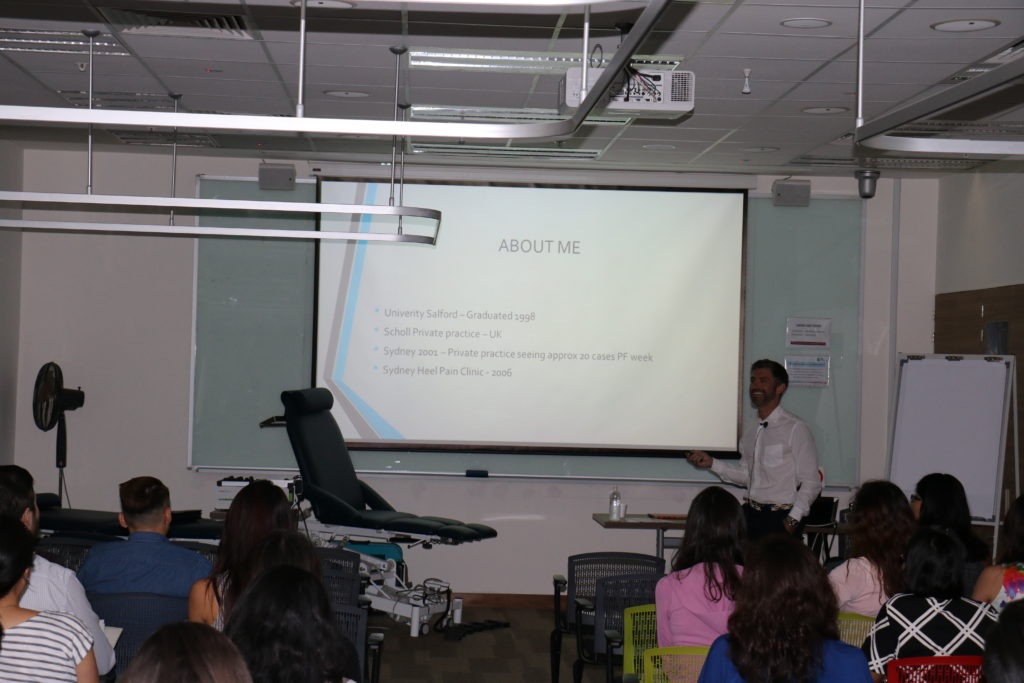 Karl Lockett presenting to the Singapore Podiatrist association
